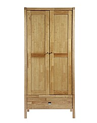 Vienna 2 Door Wardrobe / Golden Oak