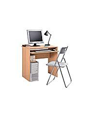 Office Desk and Chair Set - Beech Effect