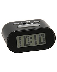 Wm.Widdop LCD Alarm Clock - Black