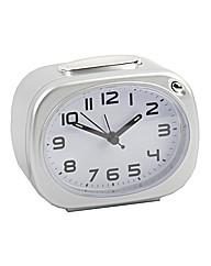 Alarm Clock White Silver