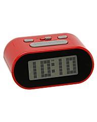 WM Widdop LCD Alarm Clock Red
