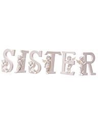 White SISTER Cherub Letters Set