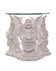 White Laughing Buddha Oil Burner