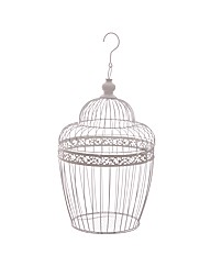 Decorative Wire Bird Cage with Dome Top