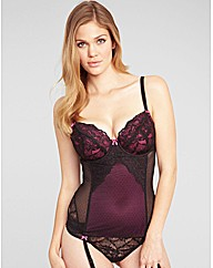 Just Peachy Lace B-G Basque