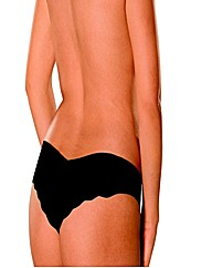 Naturana Black Invisible Touch Thong