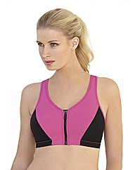 High Impact Zipper Sport Bra