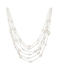 Mood Pearl Multirow Illusion Necklace