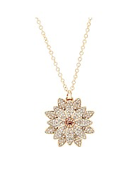 Mood Gold Crystal Flower Pendant