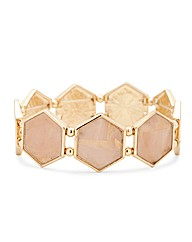 Mood Shell Hexagon Stretch Bracelet