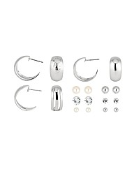 Mood 9 Pack Hoop and Stud Earrings