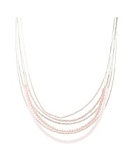 Mood Pink Beaded Illusion Necklace