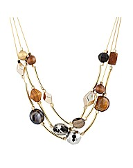 Mood Tribal Tube Multirow Necklace