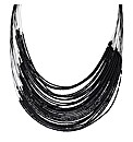 Mood Black Multirow Illusion Necklace