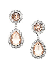 Mood Peach Crystal Drop Earring