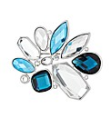 Mood Blue Crystal Cluster Brooch
