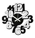 Plastic Wall Clock Numerals White/Black