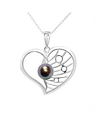 Silver and Pearl Artwork Pendant