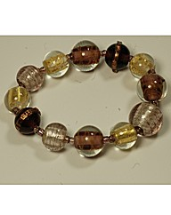 Murano Ball Elasticated Bracelet