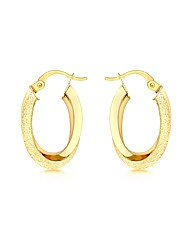 9CT Yellow Gold Double Oval Earring