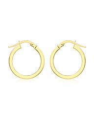 9CT Yellow Gold Round Creole Earring