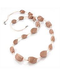Dusty Pink Bead Cord Necklace