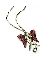 Gold Coloured Red Elephant Necklace