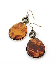 Tortoise Shell Effect Earrings