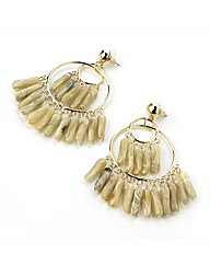 Gold Coloured Beaded Earrings