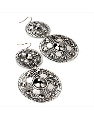 Silver Coloured Drop Earrings