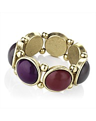 Red, Purple and Gold Coloured Bracelet