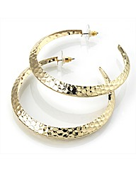 Gold Coloured Hoop Earrings