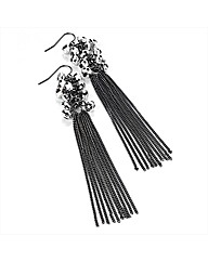 Hematite Effect Chain Drop Earrings