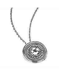 Silver Coloured Disc Chain Pendant