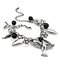 Silver Coloured Bird Charm Bracelet