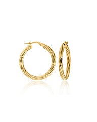 9CT Yellow Gold Creole Earring