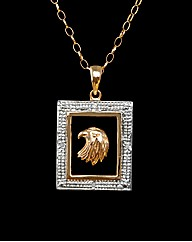 9ct Yellow Gold Gents Eagle Pendant