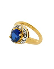 9ct Yellow Gold Dia and Sapphire Ring