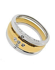 9ct Message Triple Ring Set