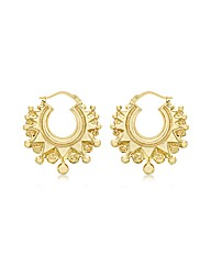 9ct Gold Fancy Creole Earring