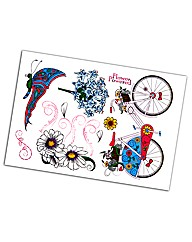 Flower Powered A5 Stamp Set - 7 Stamps i