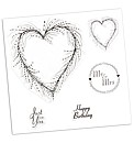 Stamps by Chloe Set of 5 Clear Stamps -