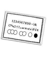 Claritystamps Numbers and Symbols Kit -