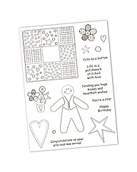Inky Doodles A5 photo polymer stamp set