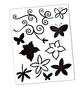 Artemio Flowers and Swirls Clear Stamp S