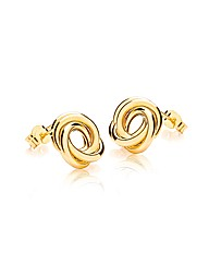 9ct Gold Linked Ring Stud Earring