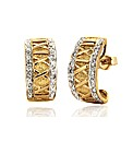 9ct Gold Diamond Roman Numeral Huggie