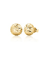 9ct Gold Pattern Dome Stud Earring