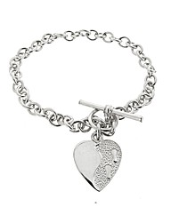 Silver Footprints Message Bracelet