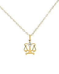 Diamond Libra Horoscope Pendant